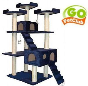 NEW GO PET CLUB CAT TREE - BLUE 72 - INCH CAT TREE - BLUE 104084685