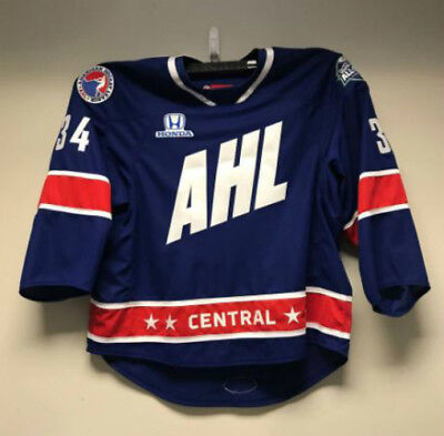 Autographed Michael Hutchinson 2018 AHL All-Star Game Worn Jersey - Maple  Leafs e0cb5a231
