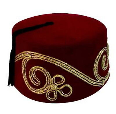 Fez Fes Turkish Ottoman Hat Tarboosh Ottoman Wear Bordaux C FREE SHIPPING