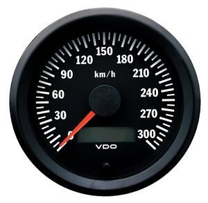 VDO Electronic 12/24V 80mm Speedometer 0-300 km/h 437 015 021