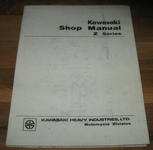 OEM KAWASAKI Z Series Shop Service Manual Z1 900 - Nov. 1972_First Issue