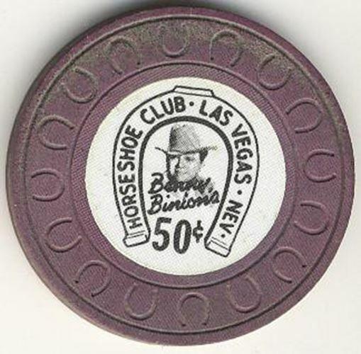 Horseshoe Club Casino Las Vegas NV 50 Cent Chip 1976