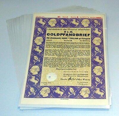 10 Wertpapier-Schutztaschen Prophila 440/860