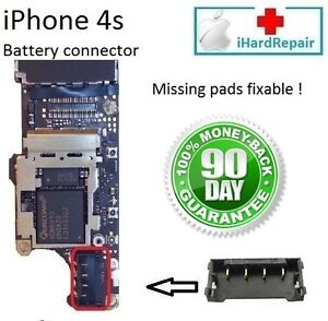 Iphone 4s motherboard battery connector repair service logic board
