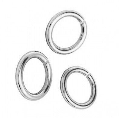 925 Sterling Silver HEAVY OPEN JUMP RINGS - 5mm, 6mm, 8mm, 9mm (18 gauge/1mm)