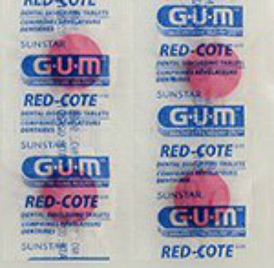 (GUM Red-Cote Disclosing Plaque Tablets- Cherry Flavor (80 tablets in a Ziploc))