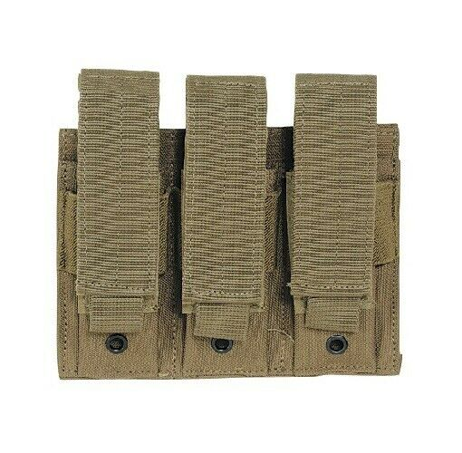 Voodoo Tactical 20-797607000 Coyote Tan Triple Pistol Magazine Pouch