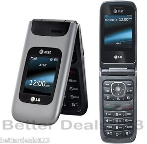 New Unlocked LG A340 - Gray AT&T Cell Flip Phone * Fast Free Shipping