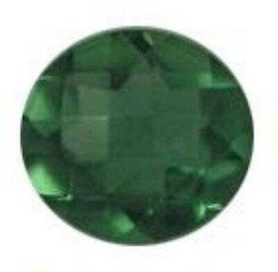 GREEN AMETHYST 12 MM ROUND CUT CHECKERBOARD TOP DARK GREEN AAA ALL NATURAL