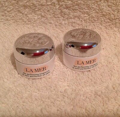 Lot of 2 La Mer The Perfecting Treatment Deluxe Sample 0.1oz  Beautiful Jar NEW