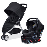 Britax 2015 B-Agile 3 Stroller & B-Safe 35 Car Seat Travel System Black NEW!