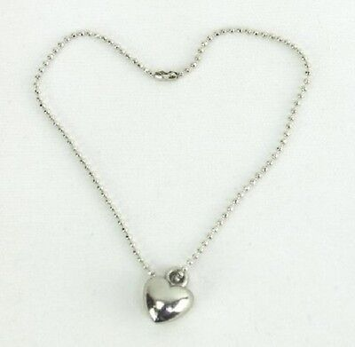 Lovvbugg Silver Heart Necklace for American Girl doll Clothes Best Selection