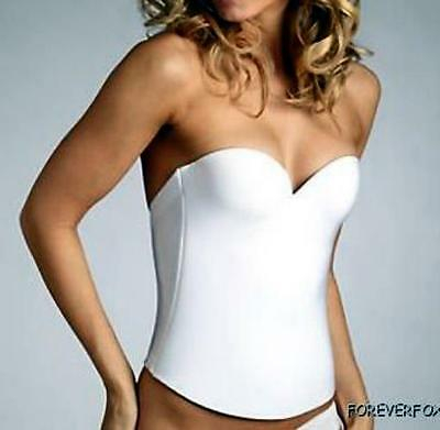 BRIDAL BUSTIER CORSET PUSH UP SEAMLESS LOW BACK LONGLINE BRA WEDDING PROM SHAPER