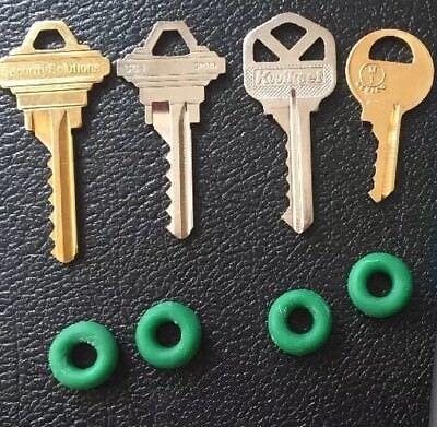 Depth Key Set (4 Keyways cut to deepest spec: SC1, SC4, KW1, M1) with Bump Rings