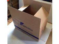 Cardboard Boxes,Large, Single Wall, for Packing / Moving - used 58cm x40cmx38cm - £1 EACH QTY AVAIL