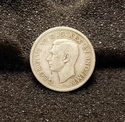1938 George VI Canadian Quarter 80% Silver, Free Shipping