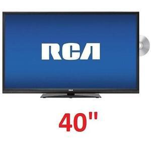 "NEW RCA 40"" LED HD TV/DVD COMBO 1080P TELEVISION BLACK 102064709"