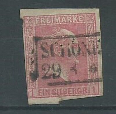Prussia 1850 1sgr pink SG16 good used (1043)