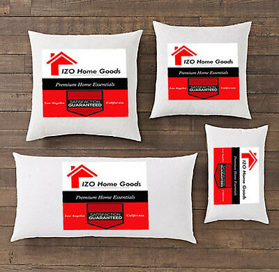 NEW Square Euro Pillow Form Insert-ALL SIZES!!- Made In USA Pillow Forms Insert ()