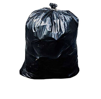 42 Gallon Contractor Trash Bags, 3.0 Mil - 50/Case Garbage Bags (Black)