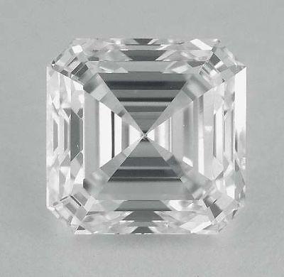 1.51 carat Asscher cut Diamond GIA E color VS2 clarity no flour. Excellent loose