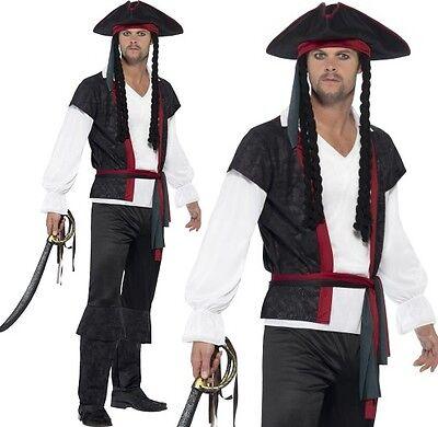 Herren Aye Aye Karibik Piratenkostüm Herren Jack Outfit von Smiffys