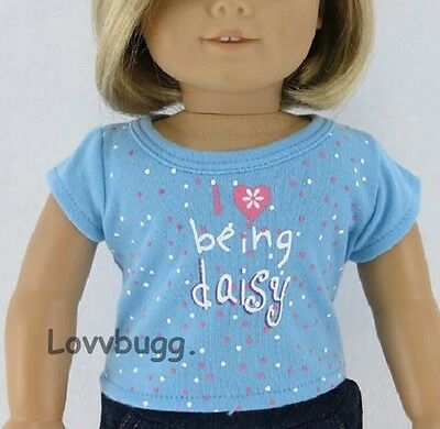 "Lovvbugg Girl Scout T Shirt ""I Love Being a Daisy "" for 18"" American Girl Doll Clothes"