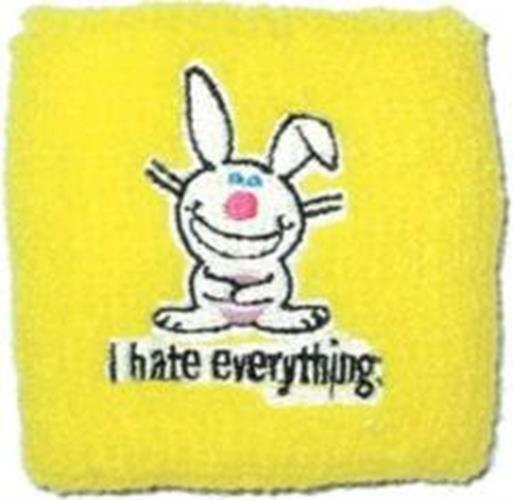 Happy Bunny I hate everything Sport Wrist Band, NEW