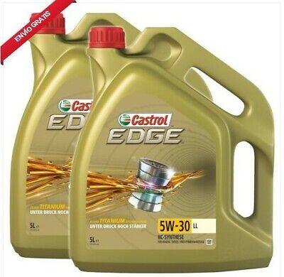 2x 5L=10L CASTROL EDGE TITANIUM 5W-30 LL ACEITE DE MOTOR VW 504...