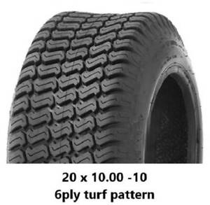 """20 X 10.00 - 10"""" TURF TYRES 6PLY - RIDE ON MOWERS/MINILOADERS/KANGA Midvale Mundaring Area Preview"""