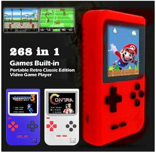 Retro LCD Mini Handheld Console Built-in 268 to 400 Classic Games (US Seller)