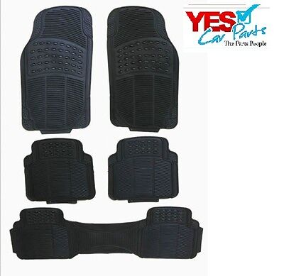 AUDI Q7 ALL YEARS HEAVY DUTY RUBBER FLOOR MATS 5 PIECE