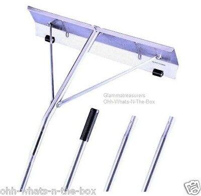 - Roof Rake Shovel Snow Ice Removal Shingles Guard Aluminum (21'L Pole 24