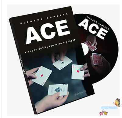 ACE (Cards and DVD) by Richard Sanders,Card Magic Trick,Close Up,Illusion,Fun (Richard Sanders Ace)