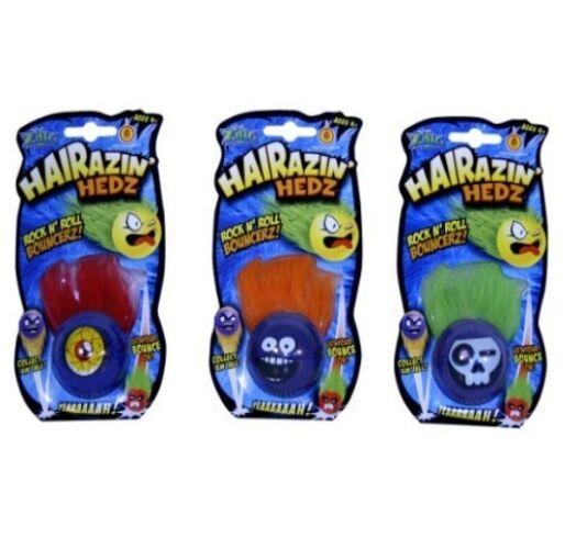 X 1 HAIRAZIN HEDZ ROCK N ROLL BOUNCER - BOUNCY BALL - PARTY BAG FILLER - BOYS