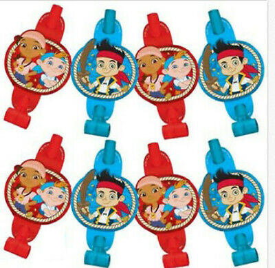 JAKE Neverland Pirates Birthday Party favor BLOWOUTS supplies  8pc Izzy Cubby