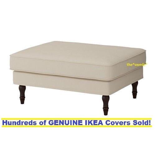 Ikea STOCKSUND Footstool / Ottoman Cover Slipcover NOLHAGA L