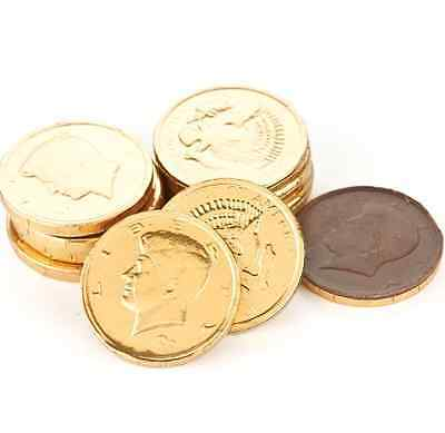Milk Chocolate Gold Half Dollar Coins - Pick a Size! - Free Expedited Shipping! - Coin Chocolate