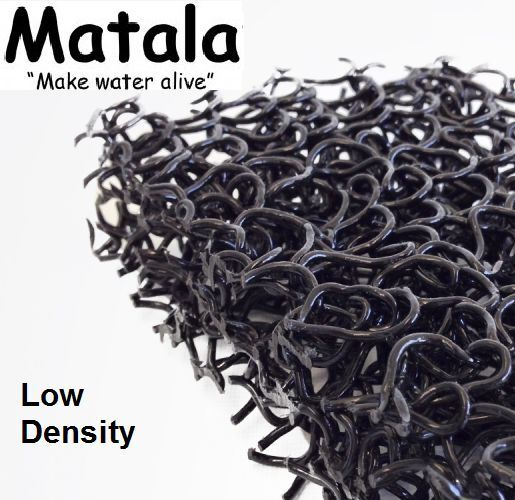 "Black Matala 1/2 Sheet Pond Filter Mat - 24""x39"" - Low De..."