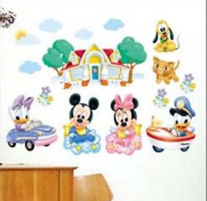 Dettagli su Adesivi Parete Decalcomania Disney Topolino Per Cameretta ...