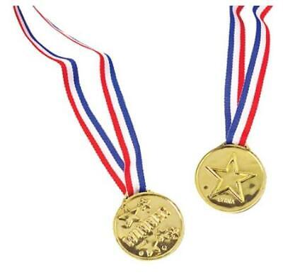 12 - Plastic Winner Medals Medallians Olympic Give Away Theme - Olympic Themed Party