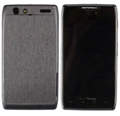 Skinomi Brushed Steel Phone Skin+Screen Protector for Motorola DROID RAZR (Razr Phone Skin)