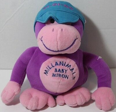 Commonwealth MILLANIMAL BABY MIRON Purple Monkey STUFFED PLUSH ANIMAL Toy Cute