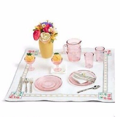 American Girll Kit's Glassware & Linens New in Box Retired Complete