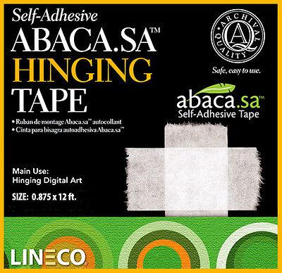 """ABACA.SA  Self Adhesive Hinging Tape .875""""X12'  Lineco # 533-0754M (bin802A.SAM)"""