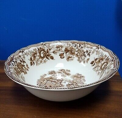 MEAKIN, ALFRED England Staffordshire Tonquin Brown round vegetable bowl 8-1/2
