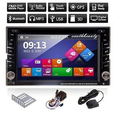 "6.2"" GPS Navigation HD Double 2 DIN Car Stereo DVD Player Bluetooth iPod MP3 TV  on Rummage"