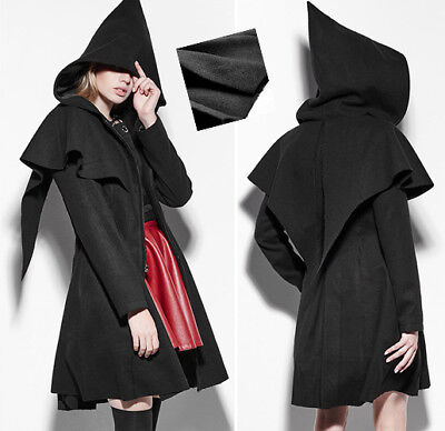 Hexen Cape (OUTLET Gothic Lolita Mystisch Kapuzen Mantel Elfe Cape Hexe Winter Mode PunkRave)