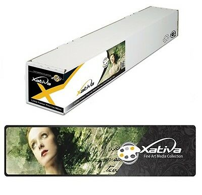 "Usado, Xativa Canvas Textured Paper 230gsm 17"" 432mm x 30m roll for Epson Canon HP Cora segunda mano  Embacar hacia Spain"