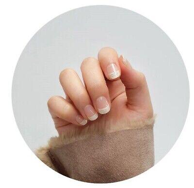 K-beauty [OHORA]  Self Gel Nail Art Patch 30pcs N Vanilla Bean Nails